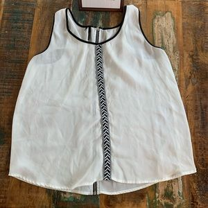 Maurices White Tank Top w/Exposed Back Zipper Sz L
